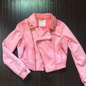 Coral jean jacket !